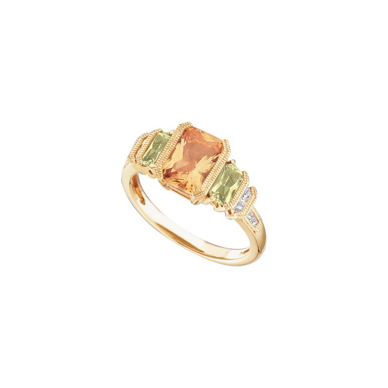Signature Collection Genuine Multi Gem-stone & Diamond ring