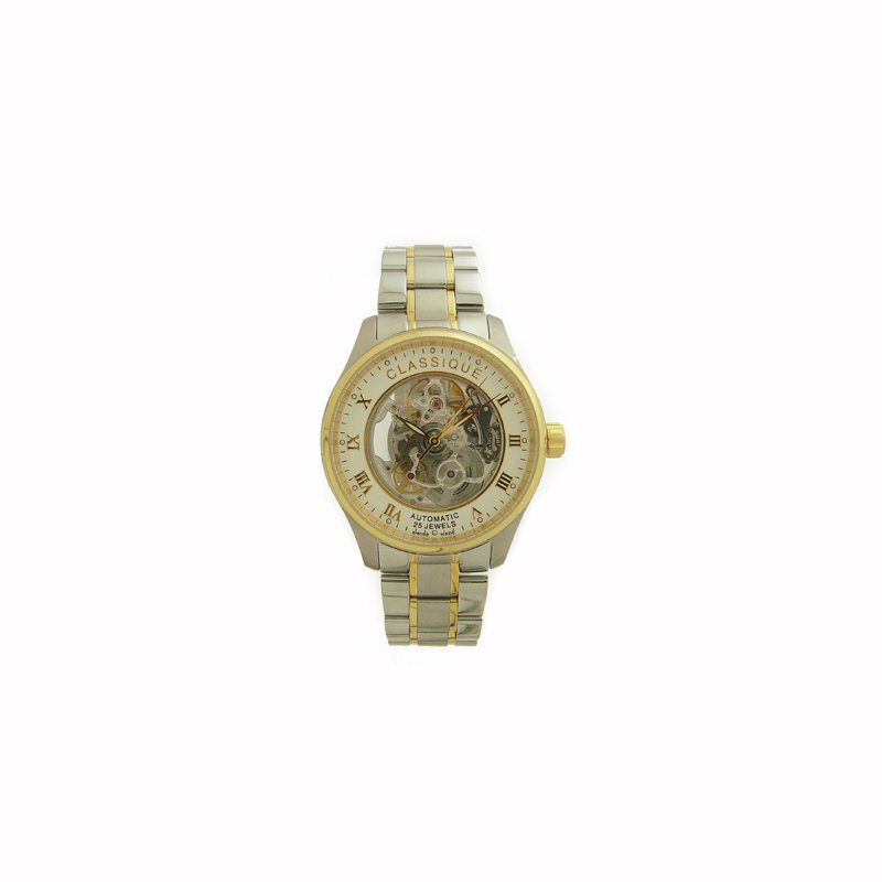Swiss Watches Classique Gents Two Tone Full Skeleton Swiss Made Automatic Watch - 9000B 2T