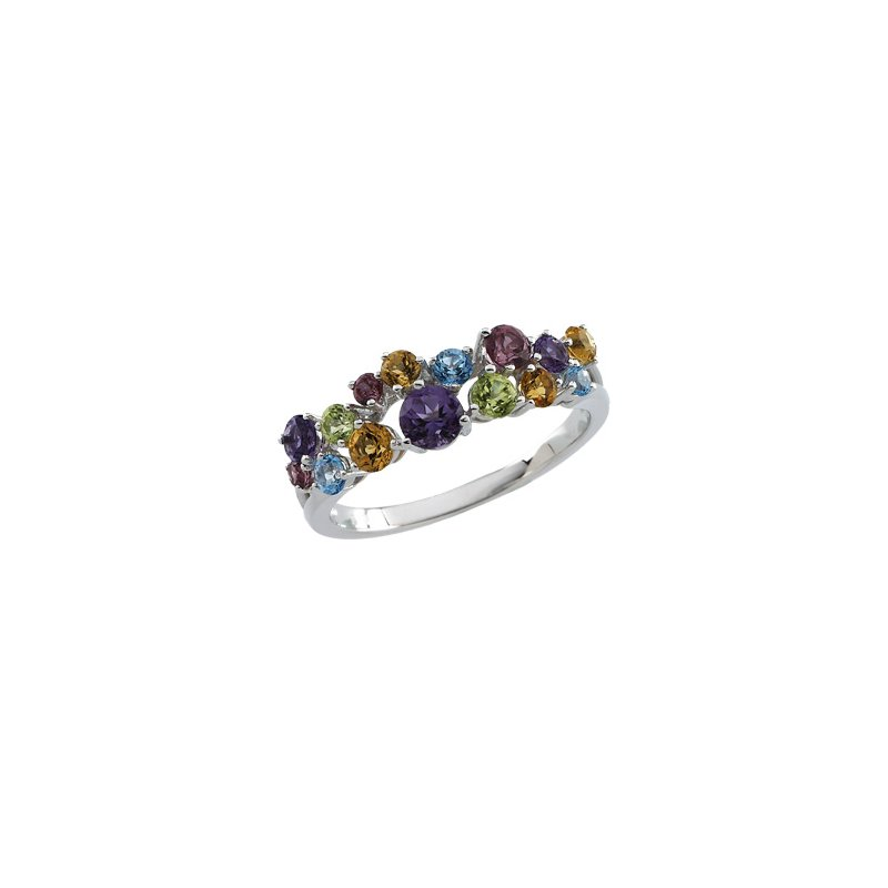 Signature Collection Genuine Multi Gem-stone Ring