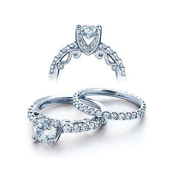 Verragio Insignia 7002 - 18k White Gold Diamond Engagement Ring by Verragio