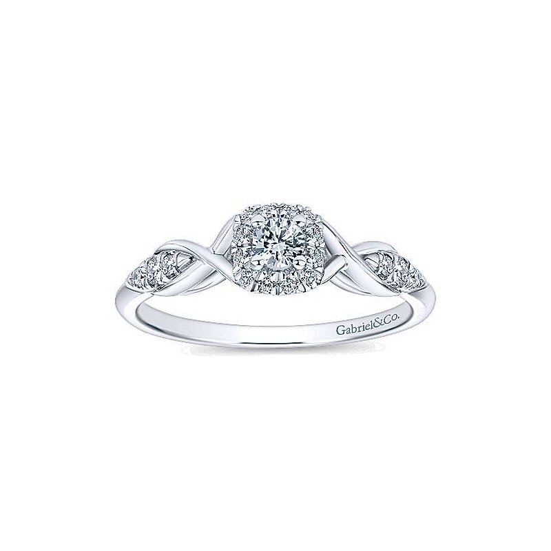 Gabriel NY Adore Collection by Gabriel NY - Cooper - 14k White Gold Halo Engagement Ring