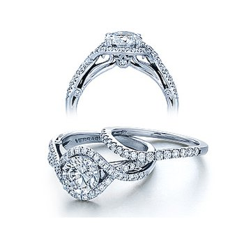 Verragio Couture 0405 - 18k White Gold Diamond Engagement Ring by Verragio