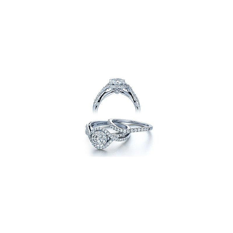 Verragio Verragio Couture 0405 - 18k White Gold Diamond Engagement Ring by Verragio