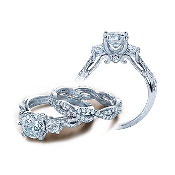 Verragio Insignia 7055R - 14k White Gold Diamond Engagement Ring by Verragio