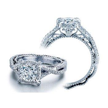 Verragio Venetian 5027 - 18k White Gold Diamond Engagement Ring by Verragio