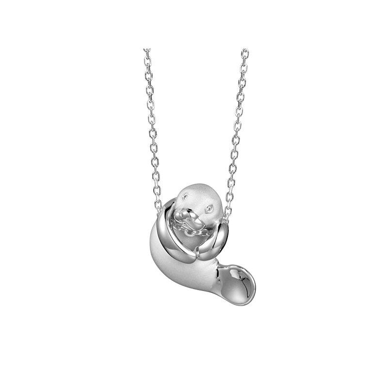 Sealife Jewelry Sterling Silver Playful Manatee Pendant