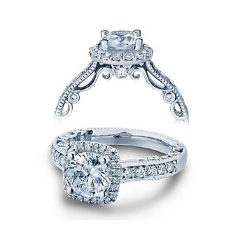 Verragio Paradiso-3077CU - 14k White Gold Diamond Engagement Ring by Verragio