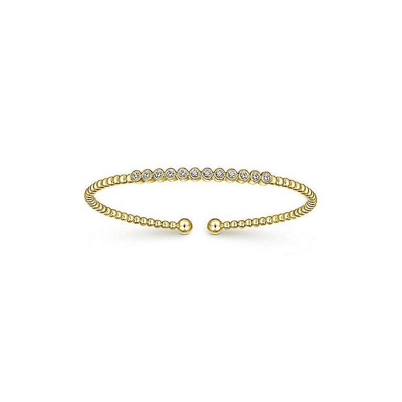 Signature Collection Signature Collection Bujukan 14k Yellow Gold Soft Bangle Bracelet with Diamonds