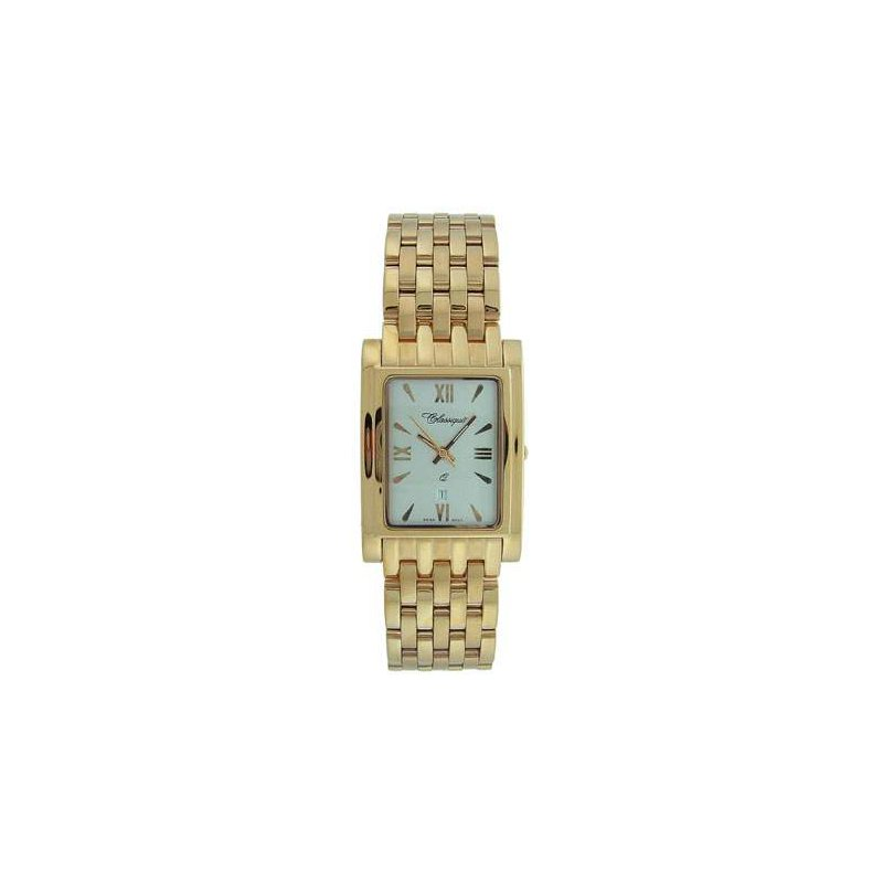 Swiss Watches Classique Gents Stainless Steel Gold Plated Swiss Quartz Watch - #28/83AG