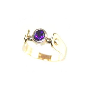 Genuine Amethyst Ring in 14k Yellow Gold
