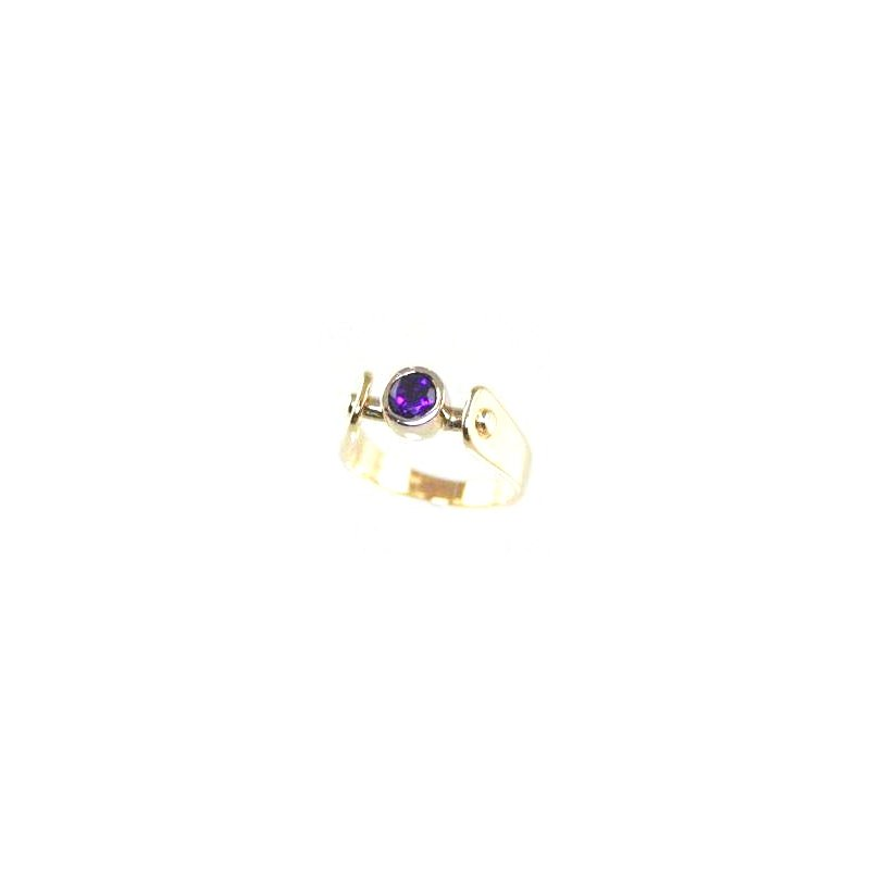 Signature Collection Genuine Amethyst Ring in 14k Yellow Gold