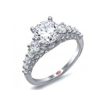 Demarco DW4613 - 18k White Gold Engagement Ring by Demarco