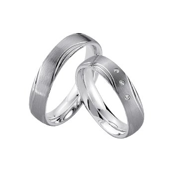 Palladium and Silver 5mm Wedding Band
