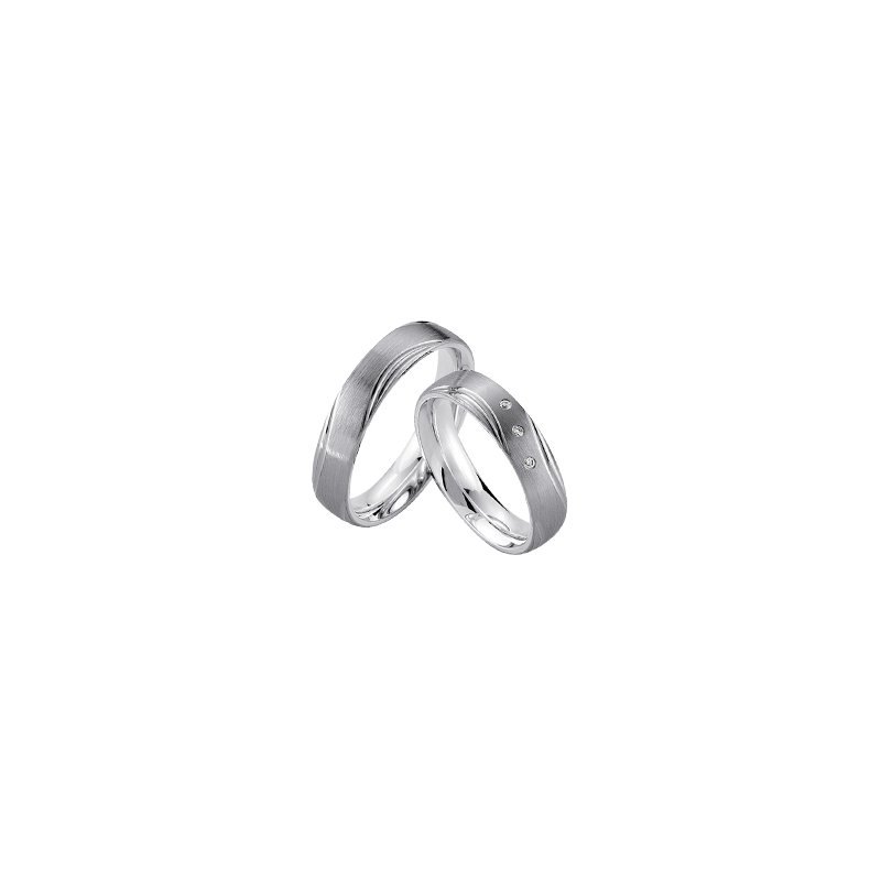 Samuel Jewels Palladium and Silver 5mm Wedding Band