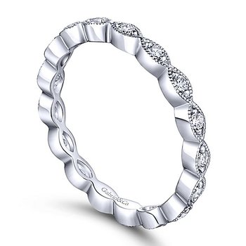 14k White Gold Eternity Stackable Diamond Ring by Gabriel NY - Style #LR4794E
