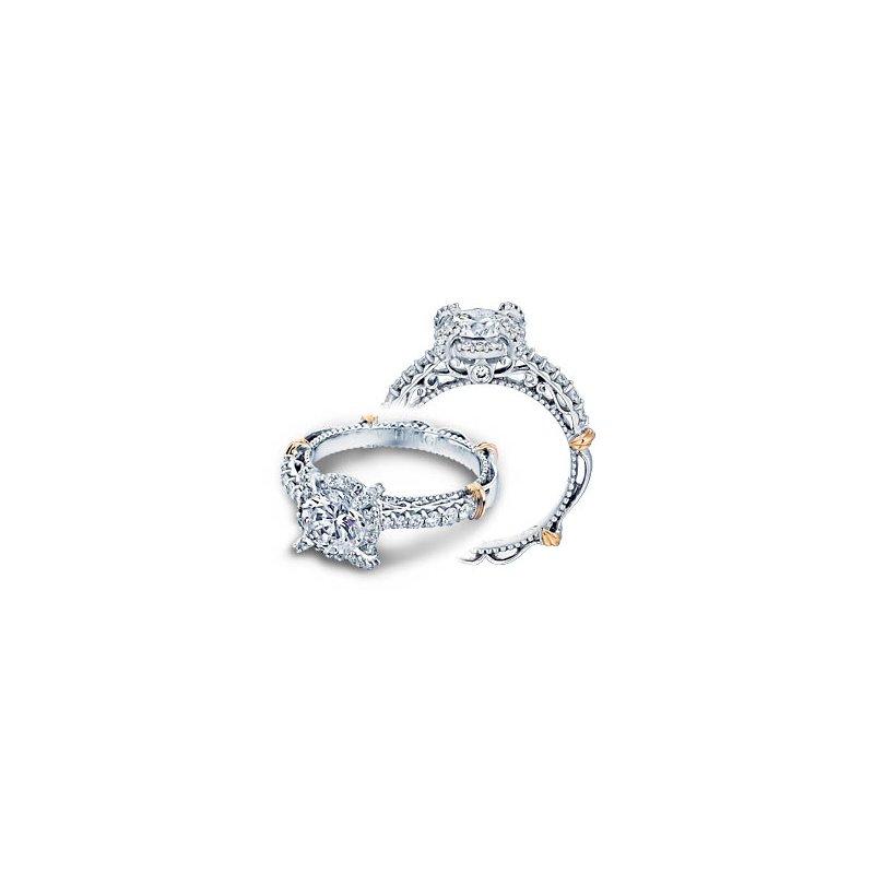 Verragio Verragio Parisian-121R - 14k White and Rose Gold Diamond Halo Engagement Ring by Verragio