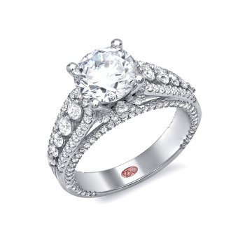 Demarco DW4967 - 18k White Gold Engagement Ring by Demarco