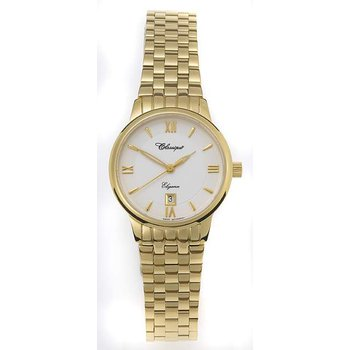 Classique Ladies' Stainless Steel Gold Plated Swiss Quartz Watch - #28-102G