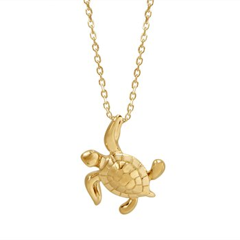 14k Yellow Gold Turtle Pendant