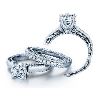 Verragio Venetian 5012 - 18k White Gold Diamond Engagement Ring by Verragio