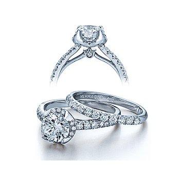 Verragio Couture 0377 - 18k White Gold Diamond Engagement Ring by Verragio
