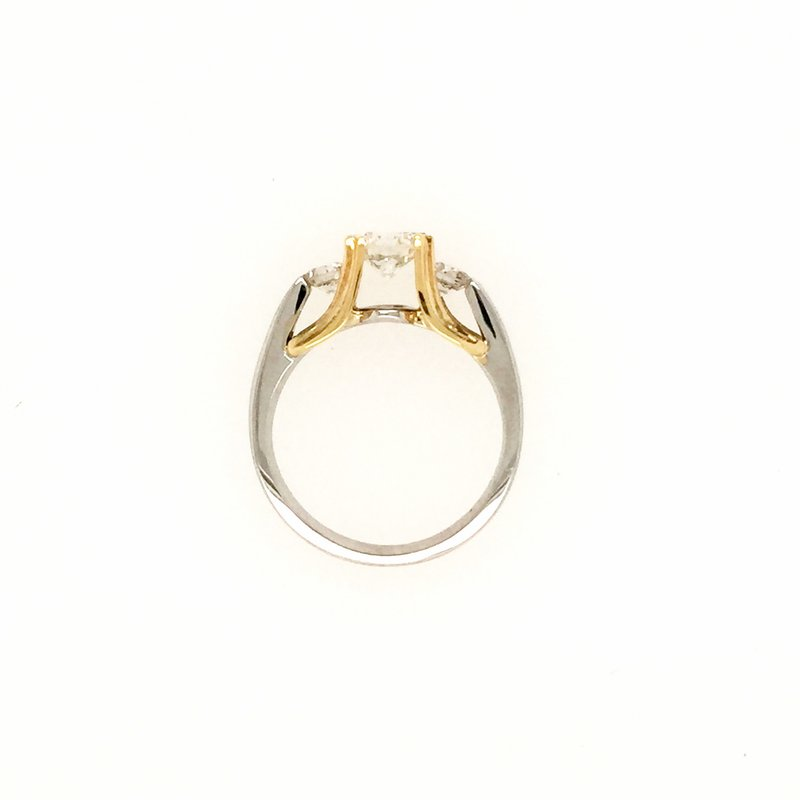 Signature Collection 18k White and Yellow Gold 3-Stone Diamond Ring
