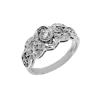 .26ct Vintage Style Filigree Diamond Ring - 36087