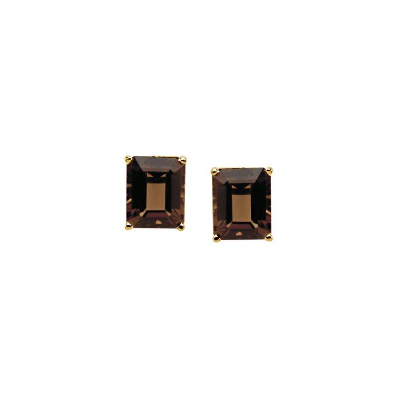Signature Collection Genuine Smoky Quartz Earrings
