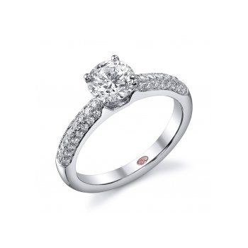 Demarco DW4619 - 18k White Gold Engagement Ring by Demarco