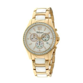 Classique Ladies' Chronograph White Ceramic Watch - #87-04RW