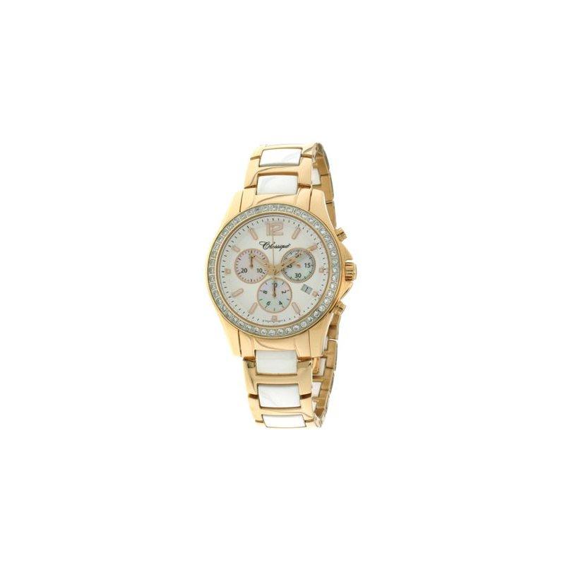 Swiss Watches Classique Ladies' Chronograph White Ceramic Watch - #87-04RW