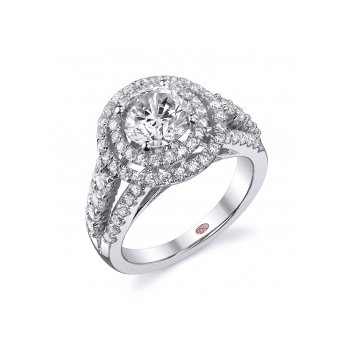 Demarco DW5381 - 18k White Gold Engagement Ring by Demarco