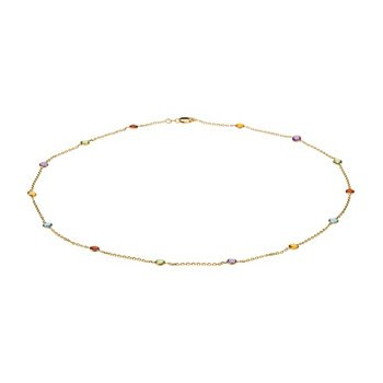 Genuine Checkerboard Multi Gem-stone Necklace