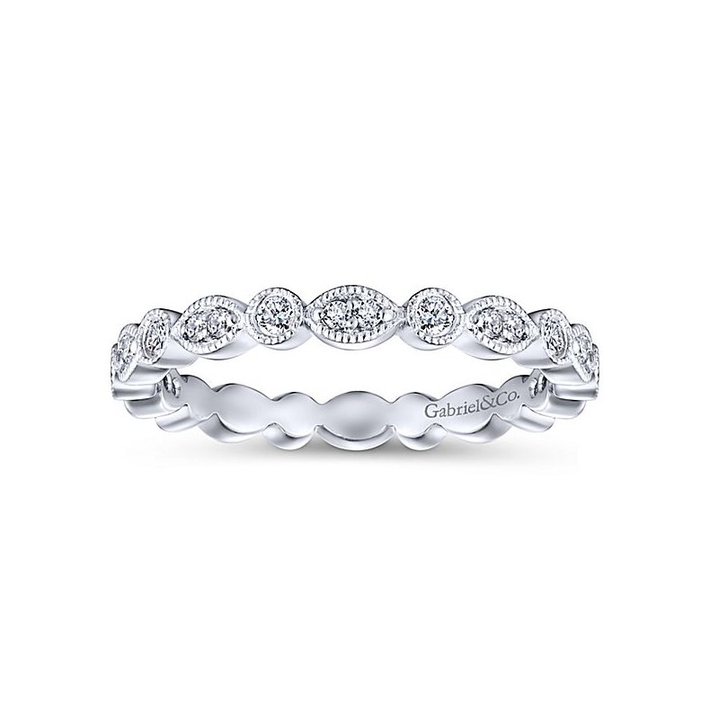 Gabriel NY 14k White Gold Eternity Diamond Stackable Ring by Gabriel NY - Style # LR5701E