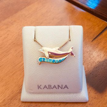 Kabana Australian Opal Inlay & Diamond Dolphin Pendant