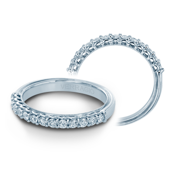 Verragio Classic V-901W - 14k White Gold Diamond Wedding Band