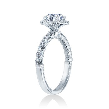 Verragio Renaissance V-954-R2.5 14k White Gold Round Halo Engagement Ring