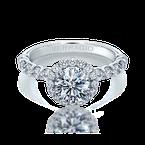 Verragio Verragio Renaissance V-954-R2.5 14k White Gold Round Halo Engagement Ring