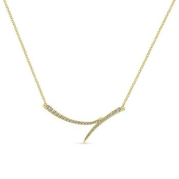 Gabriel NY Indulgence Collection Fashion Diamond Necklace in 14k Yellow Gold