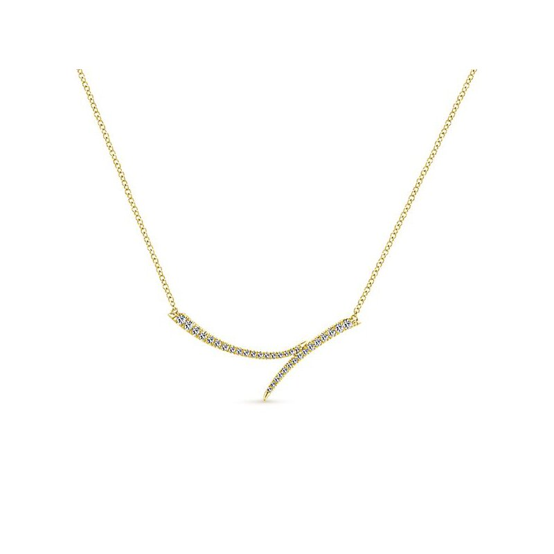 Signature Collection Gabriel NY Indulgence Collection Fashion Diamond Necklace in 14k Yellow Gold