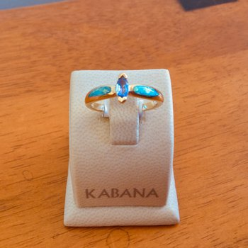 Kabana Australian Opal, Marquise Tanzanite and Diamond Ring - #34523