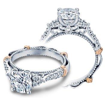 Verragio Parisian-127R - 14k White and Rose Gold Diamond Engagement Ring by Verragio