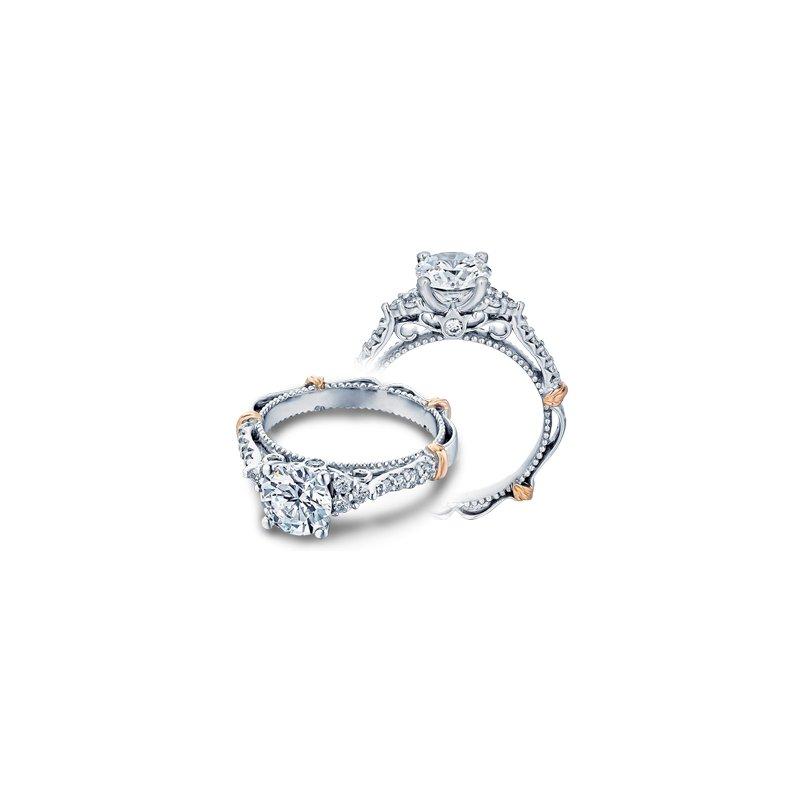 Verragio Verragio Parisian-127R - 14k White and Rose Gold Diamond Engagement Ring by Verragio