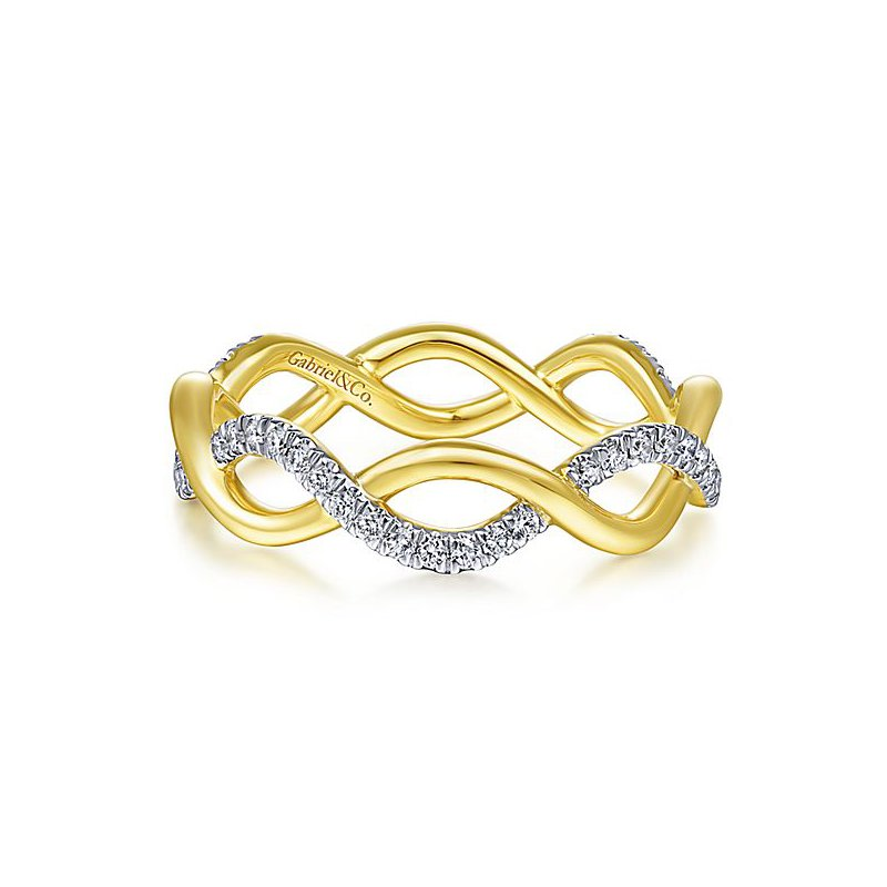 Signature Collection Stackable Eternity Diamond Twist Band by Gabriel NY - Style #LR51482E