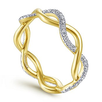 Stackable Eternity Diamond Twist Band by Gabriel NY - Style #LR51482E