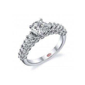 Demarco DW4605 - 18k White Gold Engagement Ring by Demarco