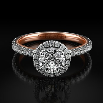 Verragio Tradition Collection Round Halo TR150HR-2WR