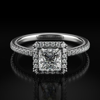 Verragio Tradition Collection TR120HP Princess Cut Halo Engagement Ring