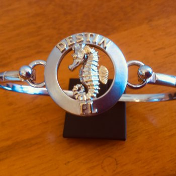Sterling Silver and 18k Gold Plate Destin Seahorse Bracelet Topper