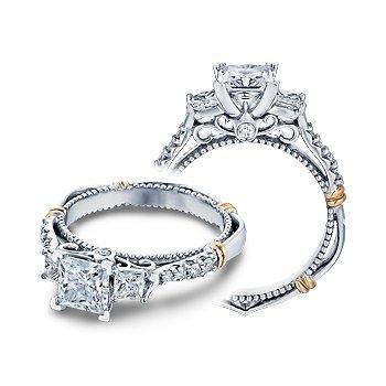 Verragio Parisian D-124P - 14k White and Rose Gold Diamond Engagement Ring by Verragio